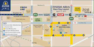 Back Bay Boston Map by The Finish Line