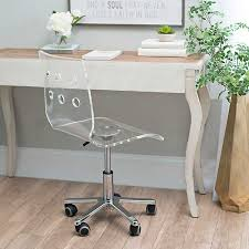 Clear Acrylic Office Chair  Kirklands