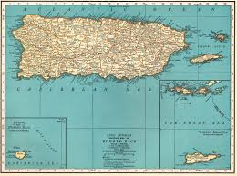Map Of Puerto Rico 1938 Vintage Puerto Rico Map Antique Map Of Puerto Rico Print