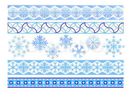 winter ornaments from snowflakes for registration of pages stock