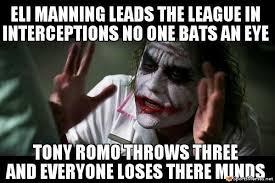 eli manning and romo meme