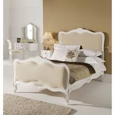 Fabric Bedroom Furniture by Fabric U0026 Leather Beds Shabby Chic Bedroom Furniture