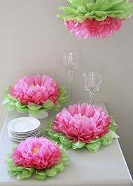 tissue paper decorations party decorations set of 7 mixed pink tissue
