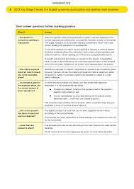 2013 ks2 grammar punctuation spelling mark schemes
