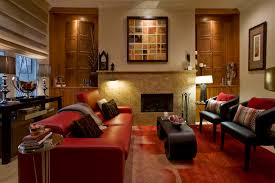 red leather sofa living room red leather couch living room traditional with built ins curved wood