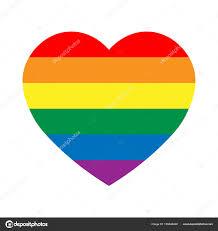 Rainbow Pride Flag Lgbt Rainbow Pride Flag In A Shape Of Heart