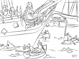 boston tea party coloring page free printable coloring pages