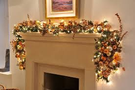 fireplace garland with lights decor and light
