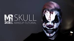 Halloween Makeup Man Horror Clown Makeup Tutorial Youtube