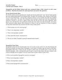 scientific method worksheet spongebob free worksheets library