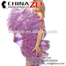 large feather fans handmade amethyst single layer large ostrich feather fan burlesque