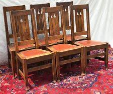 Mission Style Dining Chairs Oak Arts U0026 Crafts Mission Style Antique Chairs Ebay