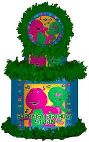 Diy Barney Decorations Barney Personalized Pinata Barney Birthday Barney Party