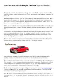 auto insurance made simple the best tips and tricks by