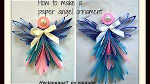 diy folded paper angel ornament christmas ornament tree