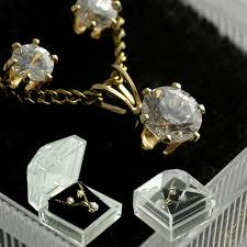 necklace pendant gift box images Wholesale jewelry cubic zirconia necklace earring set in gift box jpg