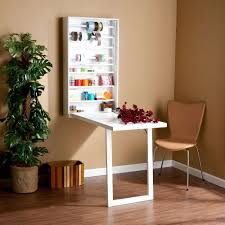 Furniture  Wall Mounted Folding Table That Benefits A Small Room - Wall mounted dining table designs