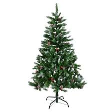 4ft 5ft 6ft 7ft green artificial tree snow berries