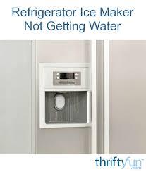 whirlpool ice maker red light flashing refrigerator ice maker not getting water thriftyfun