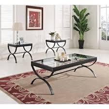 glass end table set glass coffee table sets you ll love wayfair