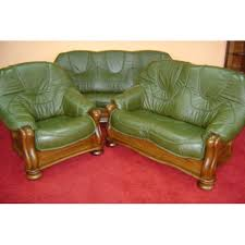 Leather And Wood Sofa Sofa Set Marta 3 2 1 Seater Real Italian 100 Leather And Solid