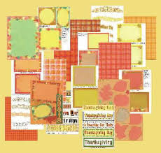 fall and thanksgiving scrapbook graphics sets