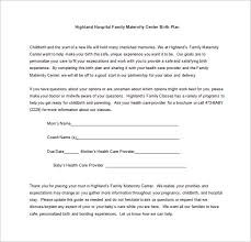 11 birth plan templates u2013 free sample example format download