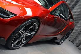 red bmw 1 of 1 lava red bmw i8 built for princess al hawi in abu dhabi