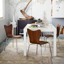 west elm white table scoop back chair west elm white parsons dining table lv condo