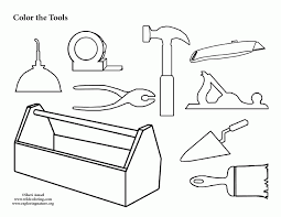 Tool Box Coloring Page Many Interesting Cliparts Box Coloring Pages