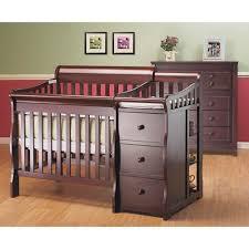 Mini Cribs Walmart Sorelle Newport 2 In 1 Crib Changer Combo Merlot Walmart