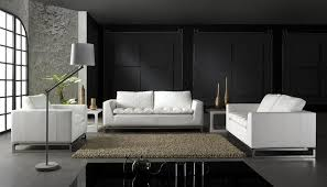 Modern Italian Living Room Furniture Black Living Room Interior With Italian Furniture Design Ideas