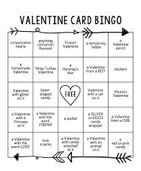 valentines bingo card bingo eighteen25