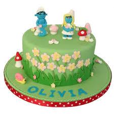 smurf birthday cake white 500x500 jpg