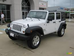 jeep rubicon white 2011 bright white jeep wrangler unlimited sport 4x4 49244971