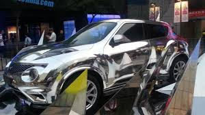 chrome wrapped cars infiniti displays chrome wrapped esq in front of beijing mall