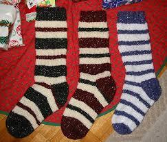 knitting pattern for christmas stocking free striped christmas stocking