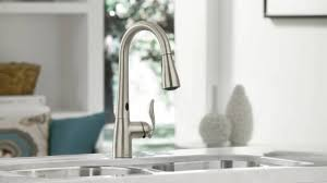 touch free kitchen faucet moen touchless kitchen faucet contemporary pull faucets the