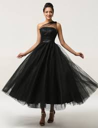 long black vintage formal evening ball gown cocktail prom party