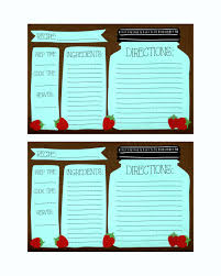 free printable recipe cards template update234 com template