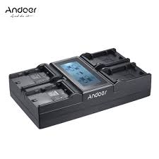 andoer lp e6 lp e6n lp e17 4 channel digital camera battery sales