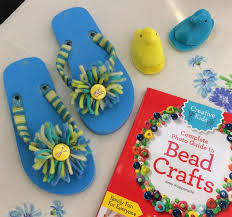 how to make button and yarn embellished flip flops quarto creates