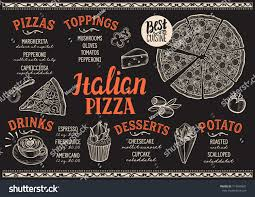pizza food menu restaurant cafe design stock vector 714879901