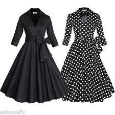 polka dot rockabilly plus size dresses for women ebay