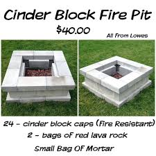 Outdoor Cinder Block Fireplace Plans - in ground fire pit ideas in ground fire pit a cinder block fire