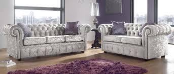 Chesterfield Sofa Suite Chesterfield 3 2 Seater Sofa Suite Shimmer Mink Velvet