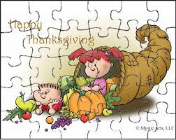 thanksgiving cornucopia puzzle and other activities for