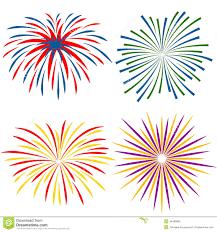 fuochi d artificio clipart fuochi d artificio dei generi differenti su fondo bianco