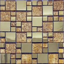 metal wall tiles kitchen backsplash glass mosaic tile plated metal coating tiles kitchen
