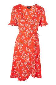 topshop dress ditsy floral print wrap dress topshop usa